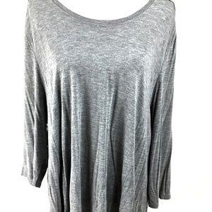 Joan Vass Tunic Top Gray Size 2X
